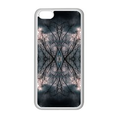 Storm Nature Clouds Landscape Tree Apple Iphone 5c Seamless Case (white) by Nexatart