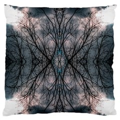 Storm Nature Clouds Landscape Tree Large Flano Cushion Case (two Sides) by Nexatart