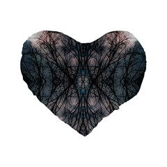 Storm Nature Clouds Landscape Tree Standard 16  Premium Flano Heart Shape Cushions by Nexatart