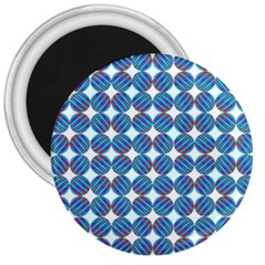 Geometric Dots Pattern Rainbow 3  Magnets by Nexatart