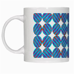 Geometric Dots Pattern Rainbow White Mugs by Nexatart