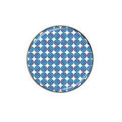 Geometric Dots Pattern Rainbow Hat Clip Ball Marker (4 Pack) by Nexatart