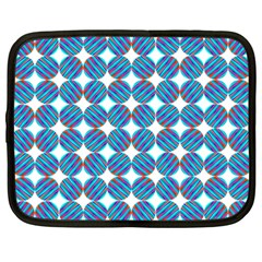 Geometric Dots Pattern Rainbow Netbook Case (large)