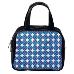 Geometric Dots Pattern Rainbow Classic Handbags (one Side)