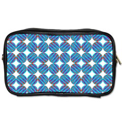 Geometric Dots Pattern Rainbow Toiletries Bags 2 Side by Nexatart