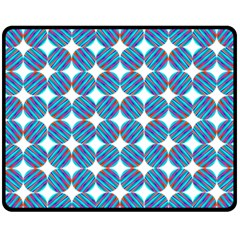 Geometric Dots Pattern Rainbow Fleece Blanket (medium)  by Nexatart