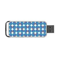 Geometric Dots Pattern Rainbow Portable Usb Flash (one Side) by Nexatart