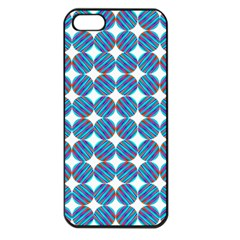 Geometric Dots Pattern Rainbow Apple Iphone 5 Seamless Case (black) by Nexatart
