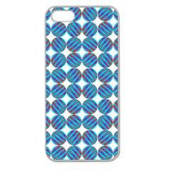 Geometric Dots Pattern Rainbow Apple Seamless Iphone 5 Case (clear) by Nexatart