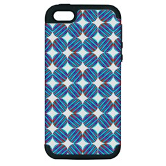 Geometric Dots Pattern Rainbow Apple Iphone 5 Hardshell Case (pc+silicone)