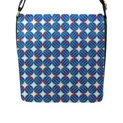 Geometric Dots Pattern Rainbow Flap Messenger Bag (l)  by Nexatart