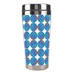 Geometric Dots Pattern Rainbow Stainless Steel Travel Tumblers by Nexatart