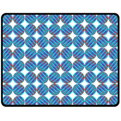 Geometric Dots Pattern Rainbow Double Sided Fleece Blanket (medium)  by Nexatart