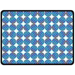 Geometric Dots Pattern Rainbow Double Sided Fleece Blanket (large)  by Nexatart