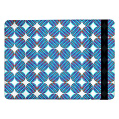 Geometric Dots Pattern Rainbow Samsung Galaxy Tab Pro 12 2  Flip Case by Nexatart