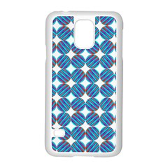 Geometric Dots Pattern Rainbow Samsung Galaxy S5 Case (white)