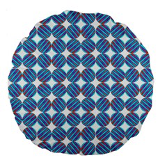 Geometric Dots Pattern Rainbow Large 18  Premium Flano Round Cushions by Nexatart