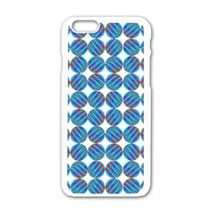 Geometric Dots Pattern Rainbow Apple Iphone 6/6s White Enamel Case by Nexatart