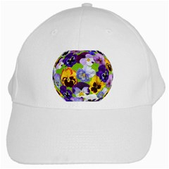 Spring Pansy Blossom Bloom Plant White Cap by Nexatart
