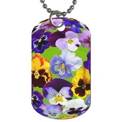 Spring Pansy Blossom Bloom Plant Dog Tag (one Side)