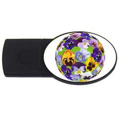 Spring Pansy Blossom Bloom Plant Usb Flash Drive Oval (2 Gb) by Nexatart