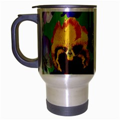 Spring Pansy Blossom Bloom Plant Travel Mug (silver Gray) by Nexatart