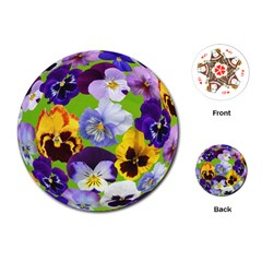 Spring Pansy Blossom Bloom Plant Playing Cards (round)