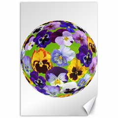 Spring Pansy Blossom Bloom Plant Canvas 20  X 30   by Nexatart