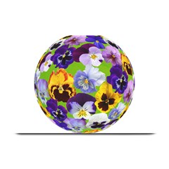 Spring Pansy Blossom Bloom Plant Plate Mats by Nexatart
