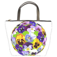 Spring Pansy Blossom Bloom Plant Bucket Bags by Nexatart