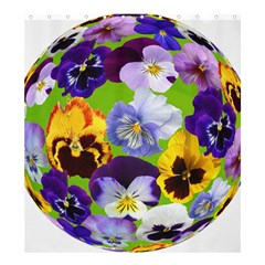 Spring Pansy Blossom Bloom Plant Shower Curtain 66  X 72  (large)  by Nexatart