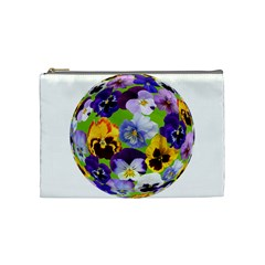 Spring Pansy Blossom Bloom Plant Cosmetic Bag (medium)  by Nexatart