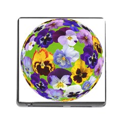 Spring Pansy Blossom Bloom Plant Memory Card Reader (square) by Nexatart