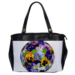 Spring Pansy Blossom Bloom Plant Office Handbags by Nexatart
