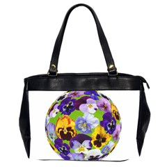 Spring Pansy Blossom Bloom Plant Office Handbags (2 Sides)