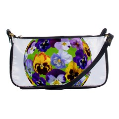 Spring Pansy Blossom Bloom Plant Shoulder Clutch Bags by Nexatart