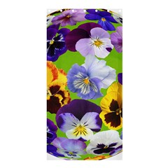 Spring Pansy Blossom Bloom Plant Shower Curtain 36  X 72  (stall)  by Nexatart