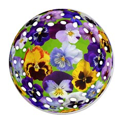 Spring Pansy Blossom Bloom Plant Round Filigree Ornament (two Sides)