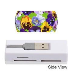 Spring Pansy Blossom Bloom Plant Memory Card Reader (stick)