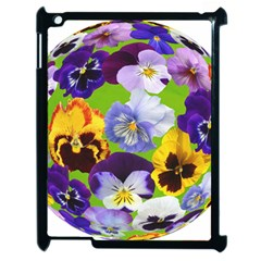 Spring Pansy Blossom Bloom Plant Apple Ipad 2 Case (black) by Nexatart