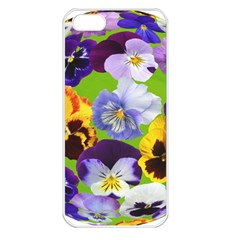 Spring Pansy Blossom Bloom Plant Apple Iphone 5 Seamless Case (white) by Nexatart