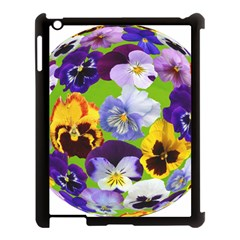 Spring Pansy Blossom Bloom Plant Apple Ipad 3/4 Case (black)