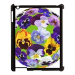Spring Pansy Blossom Bloom Plant Apple iPad 3/4 Case (Black) Front
