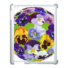 Spring Pansy Blossom Bloom Plant Apple Ipad 3/4 Case (white) by Nexatart
