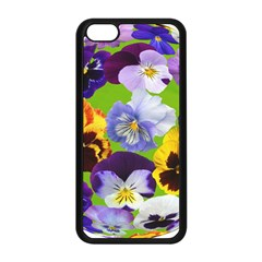 Spring Pansy Blossom Bloom Plant Apple Iphone 5c Seamless Case (black) by Nexatart