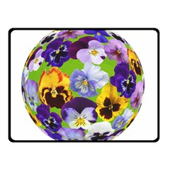 Spring Pansy Blossom Bloom Plant Double Sided Fleece Blanket (small)  by Nexatart