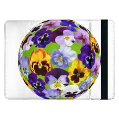 Spring Pansy Blossom Bloom Plant Samsung Galaxy Tab Pro 12 2  Flip Case