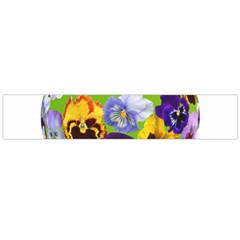 Spring Pansy Blossom Bloom Plant Flano Scarf (large) by Nexatart