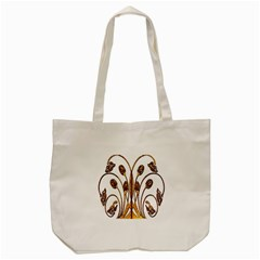 Scroll Gold Floral Design Tote Bag (cream) by Nexatart