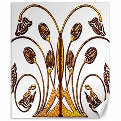 Scroll Gold Floral Design Canvas 20  X 24   by Nexatart
